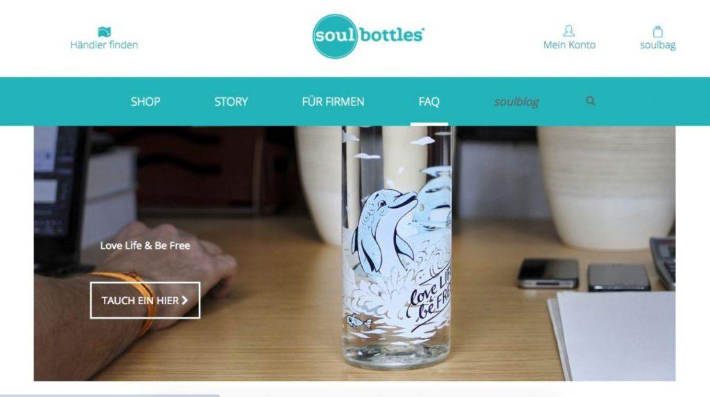 Glasflaschen kaufen und Gutes tun