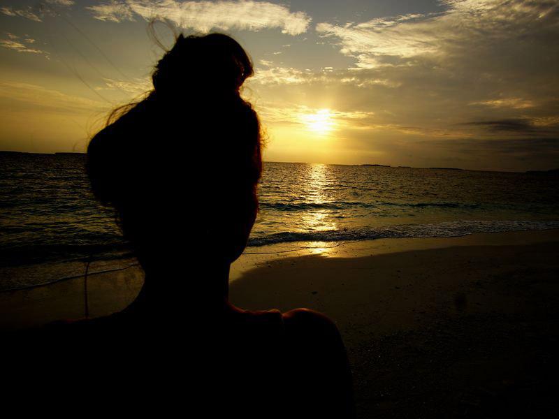 Marina beim Sonnenuntergang
