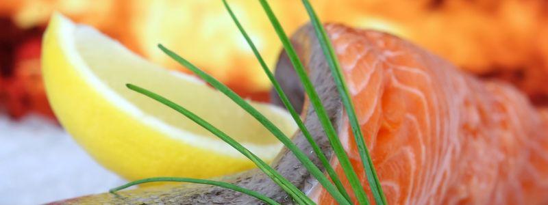 Aquakultur Lachsfilet mit Zitrone