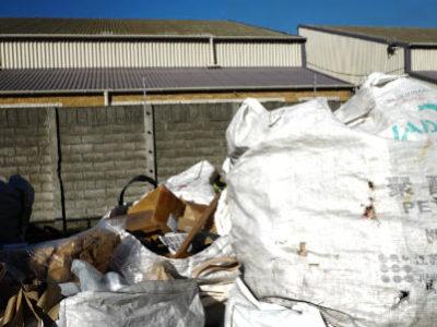Berge von Recycling Müll Südafrika