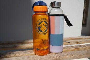 Unterwegs Plastik vermeiden mit Flaschen
