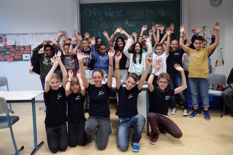 Schülerinnen und Schüler des Sharkproject Schulprogrammes