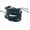 Recycling-Armband dunkelgrün
